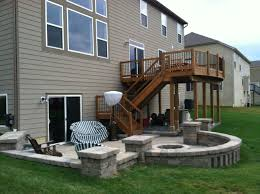 Patio Enclosures Columbus Ohio by Second Story Deck Above A Paver Patio Www Creative Earthscapes Com