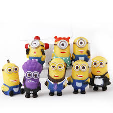 40pcs 5sets american despicable me 2 minion figures toys 3d