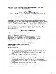 resume templates for waitress bartenders bash videos infantiles pleasant resume exles food service manager for sle