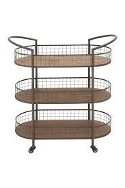 uma metal u0026 wood 3 tiered cart nordstrom woods and chang u0027e 3