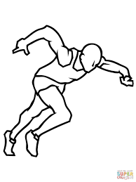 track field coloring pages creativemove