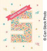 vectors illustration of happy birthday card 75 seventy five year