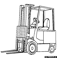 forklift truck coloring free forklift truck coloring
