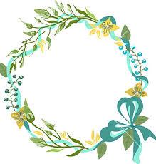wedding invitation frame color floral frame for wedding invitation design vector by