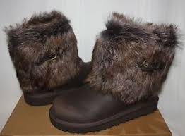 ugg womens ellee boots ugg ellee leather boots chocolate brown ebay