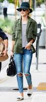 What To Wear With Light Jeans 9 Ideas On How To Wear Green Parkas In Spring All Day