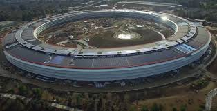 apple u0027spaceship campus u0027 taking shape in latest drone video of