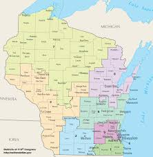 Map Of Northern Wisconsin by Wisconsin U0027s Congressional Districts Wikipedia