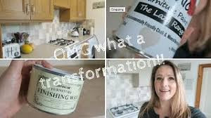 painting kitchen cabinets frenchic omg look at the transformation diy frenchic kitchen