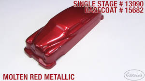 molten red metallic single stage u0026 basecoat paint eastwood youtube