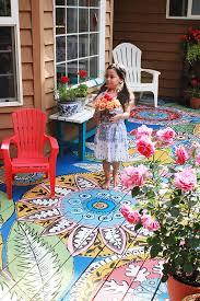 hand painted deck by alisa burke home pinterest painted