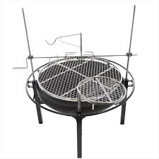 Fire Pit Ring With Grill by Rivergrille Cowboy 31 In Charcoal Grill And Fire Pit Gr1038
