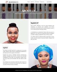 website for makeup artist haddybeauty web design by dientweb lagos web design company