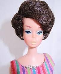 bubble cut hair style rare european american girl side part bubble cut barbie doll mint