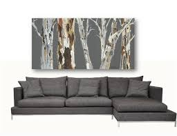 Artwork For Dining Room Extra Large Wall Art Print Tree Art Rolled Canvas Pastels Gray