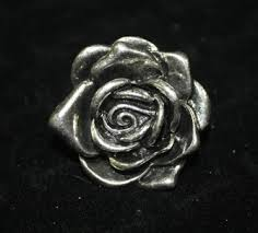 silver roses silver ring