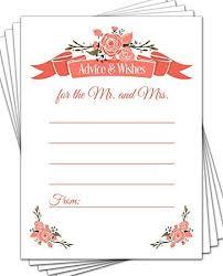 Advice Cards For Bride Amazon Com 50 Wedding Advice Cards Advice For The Bride Bridal