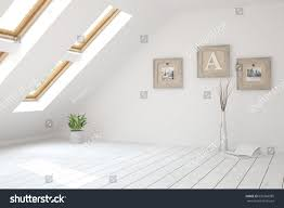 white empty room scandinavian interior design stock illustration