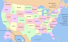 map of 50 us states with names map of the united states america with state names for usa