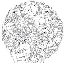 printable coloring pages woodland animals