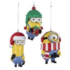 minions dave tim and stuart 3 1 2 inch ornament set kurt s adler