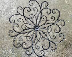 Metal Flower Wall Decor - large metal wall art etsy