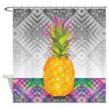 amazon com cafepress pineapple shower curtain decorative