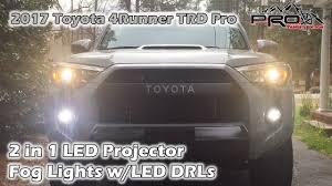 4runner fog light bulb 2017 4runner 2 in 1 led fog lights with drls youtube