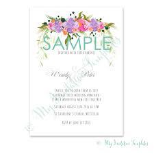 flower wedding invitation template sample