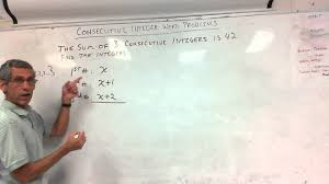 7th grade consecutive integer word problems 10 15 12 youtube