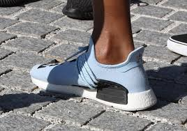 adidas nmd light blue pharrell wears light blue adidas nmd human race sneakernews com