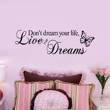 life dream aliexpress com buy don u0027t dream your life live your dreams wall
