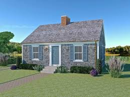 tiny cape cod colonial revival traditional style house plan cape cod home design rendering