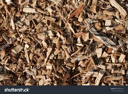 seamless tiling wood chips landscaping background stock photo