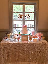 Bridal Shower Dessert Table Elegant Pink And Gold Bridal Shower Trueblu Bridesmaid