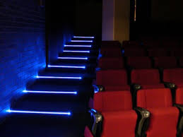 led step lights indoor theater stair lighting