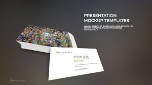 powerpoint business card mockup templates premium and free
