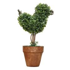 Elephant Topiary Plastic Garden Grass Ball Topiary Tree Pot Dried Plant For Wedding