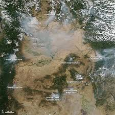 Oregon Wildfire Map by Fires In The Pacific Northwest Nasa