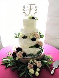 antique floral country inspired wedding cake winchester new hampshire