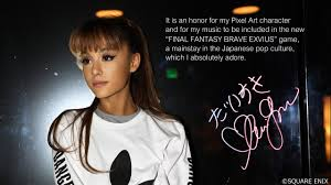 final fantasy ariana grande u2013 touch it final fantasy brave exvius remix