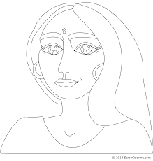 young indian woman coloring page