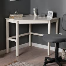 white wood corner desk