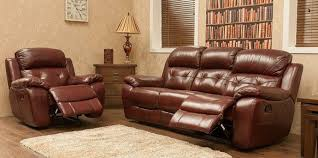 Recliner Sofa Suite Recliner Sofa 3 2 Seater Leather Suite Available In Tabak