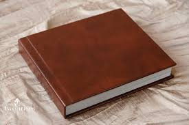 leather photo albums 8x10 delicious leather wedding album two irises