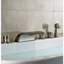 shower attachment for bathtub faucet monora triple handle waterfall roman bath tub faucet with hand held