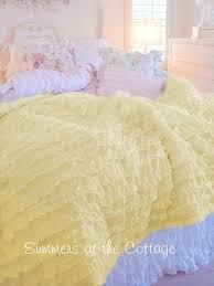 Ruffled Comforter Shabby Chic Bedding Authentic Shabby Chic Rachel Ashwell Duvet