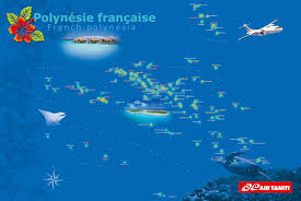 South Pacific Map Air Tahiti Flight Map For French Polynesia South Pacific Travel