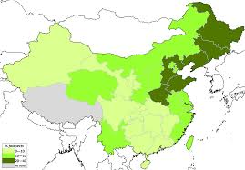 World Religions Map by File Folk Religious Sects U0027 Influence By Province Of China