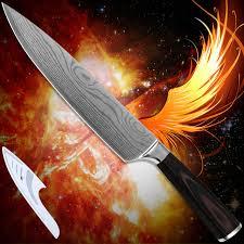 laser kitchen knives kitchenware 8 inch chef kitchen knife 7cr17 stainless steel